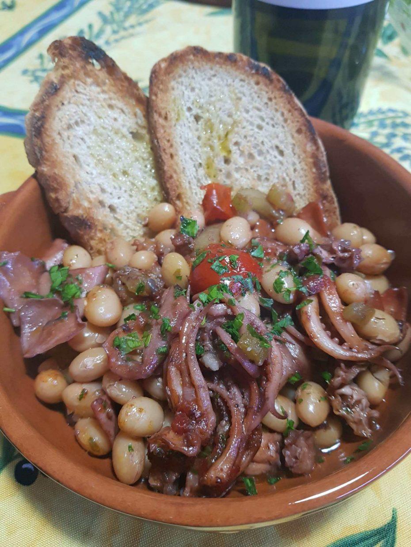 Zuppa di totani con fagioli di Pigna